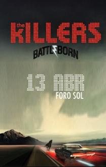 Flyer: The Killers en el Foro Sol