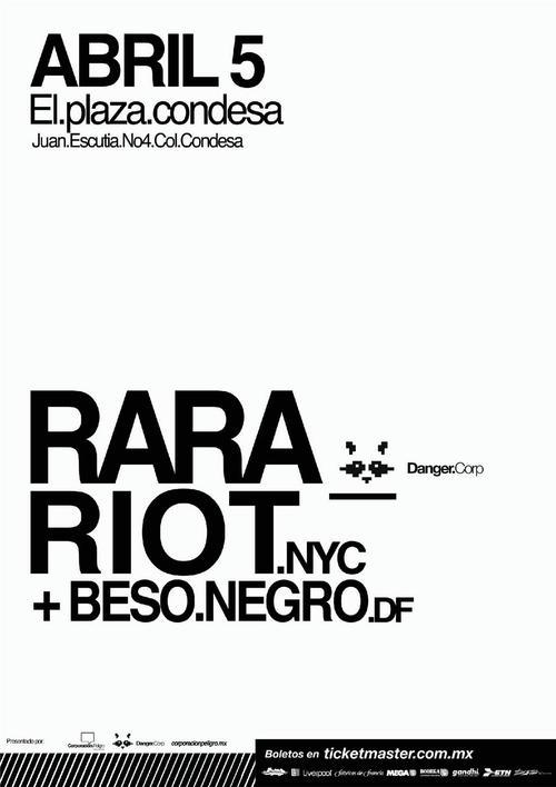 Ra Ra Riot y Beso Negro Plaza Condesa