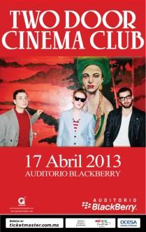 Flyer: Two Door Cinema Club en el Auditorio Blackbery