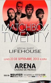 Flyer: Matchbox Twenty en la Arena Ciudad de México