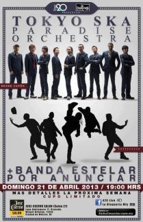 Flyer: Tokio Ska Paradise Orchestra en el José Cuervo Salón
