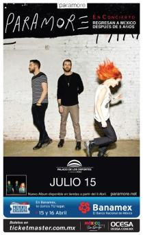 Flyer: Paramore en el Palacio de los Deportes